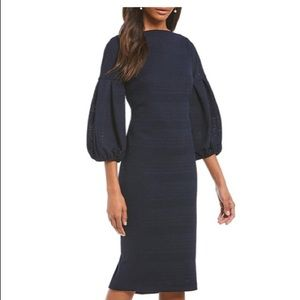 Maggy London Herringbone Knit Midi Dress Size 8